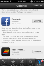 Facebook iPhone App Now Has Share Button