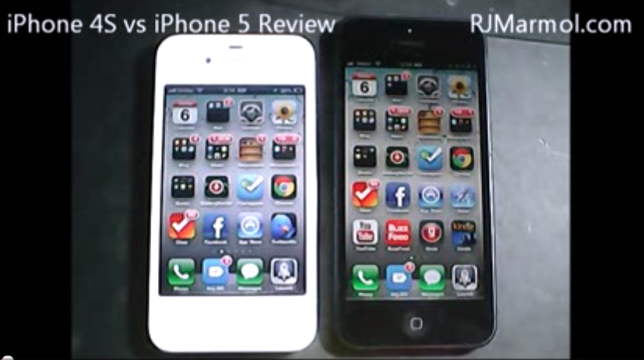 iPhone 4S vs iPhone 5 Side by Side Comparison