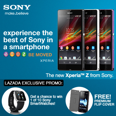 Buy a Sony Xperia™ Z from Lazada.com.ph for a chance to win a Sony SmartWatch!
