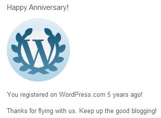 5 Years with WordPress