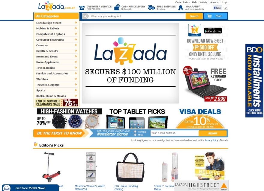 Lazada Secures $100 million in funding and launches Android app