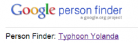 Google Persoon Finder – Typhoon Yolanda