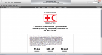 Donate to IFRC via iTunes